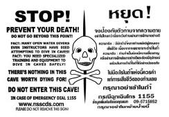 NSS approved warning sign for Thailand.