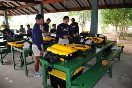 Thailand Navy EOD Training - Deep Tec Diver